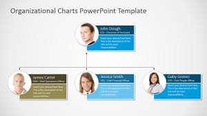 Organization Chart Template Ppt Organizational Chart With Photo Placeholders Slidemodel