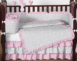 pink and gray nursery bedding sets baby crib bedding infant s