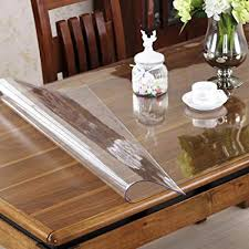 ostepdecor custom 1 5mm thick crystal clear table top protector plastic tablecloth kitchen dining room wood