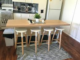 Kitchen Island With Seating Table Ideas Cabinets Ikea Hack Diy