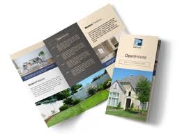 Awesome Open House Tri Fold Brochure Template