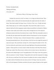 the hunger games series documents course hero hunger games essay