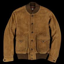 rrl deerskin leather sherwood jacket in tan
