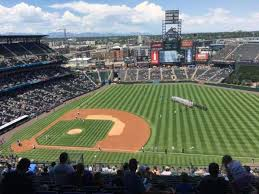 Coors Field Section U319 Home Of Colorado Rockies
