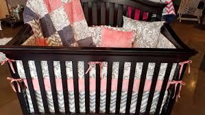 baby girl crib bedding c gray chevron and white gray damask crib bedding ensemble