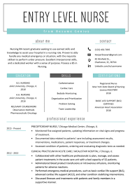 004 Nursing Student Resume Template Entry Level Nurse Example