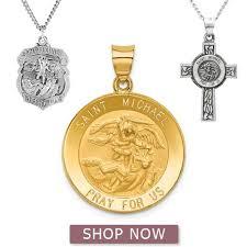 st michael necklace white gold er