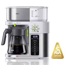 Clean Light On Braun Coffee Maker Braun Multiserve Coffee Machine 7 Programmable Brew Sizes 3 Strengths Iced Coffee Hot Water For Tea Glass Carafe 10 Cup White Kf9150wh
