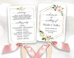 Wedding Program Fans Cheap Wedding Program Fan Etsy