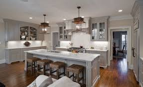 light grey kitchen cabinets and island