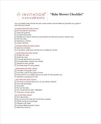 Sample Baby Shower Checklist 7 Examples In Pdf Excel