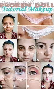 top 13 broken doll tutorial makeup eyebrows dark brown eyeshadow