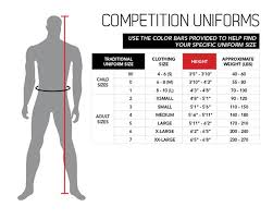 Karate Belt Size Chart Cm Size Charts Uniforms Belts Century Martial Arts Fitness
