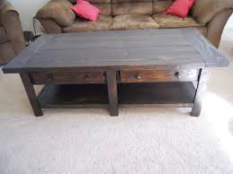 pottery barn coffee table ana white benchwright build projects end tables ideas console side marble top dining chairs desk mirrored oak and reclaimed wood