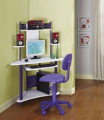 corner desk home office idea5000. Simple Home Corner Study Table With Bookshelf Black Swivel Office Chair Open Shelf  Monitor Stand Creamy Wooden Flooring Modern Silver Stainless Steel Based Portable  In Desk Home Idea5000
