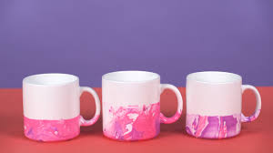 put your elves to work how to make easy diy marble mugs