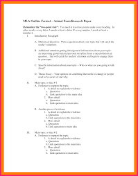 research paper outline mla example for outline research paper mla format