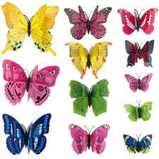 Butterfly Home Decor Accessories 100pcs 100d PVC Wall Stickers Magnet Butterflies DIY Home Decor 32