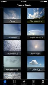 Types Of Clouds Ten Main Cloud Classifications On The App Store
