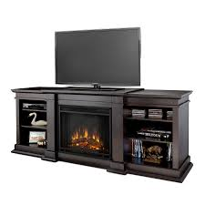 real flame 72 in w dark walnut led electric fireplace