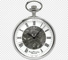 round silver colored pocket watch