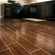 wood look tile in a kitchen