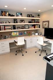 good shaped desk office. Love Wall-to Wall Shelves Space Saving Ideas And Furniture Placement For Small Home Office Design I Like The Long Desk With Shelving Plus Wood Tops Good Shaped