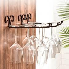 jn metal wall mounted wine glass