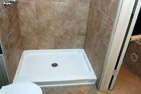 cost to install tile shower pan replace fiberglass shower with tile cost install fiberglass shower pan