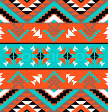 Navajo Pattern Adorable Seamless Colorful Navajo Pattern Vector Illustration Stock Vector
