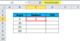 Tan Chart Radians Tan In Excel Formula Examples How To Use Tan Function