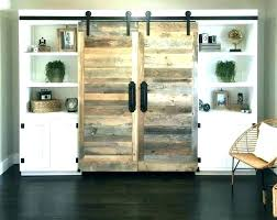 sliding barn door stand cover over fireplace wall covers white tv westgate 66 media console s