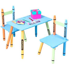 Kids Table Chair Set 3 Piece Crayon Chairs Wood Children Activity Playroom Furniture Colorful Home Design Magazines Canada