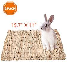 rabbits natural hay woven bed mat
