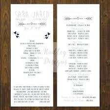Fun Wedding Programs Fun Wedding Idea Alpaca Farm Funny Program Wording