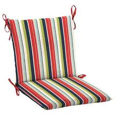 Hampton Bay Attached ties Stripe Outdoor Chair Cushions