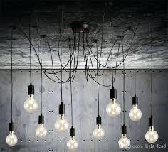 hanging ceiling pendant lighting modern retro hanging lamps chandelier bulb fixtures spider ceiling lamp fixture light hanging ceiling
