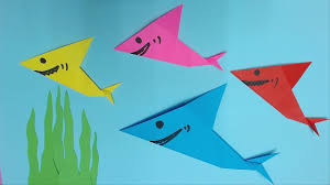 how to make shark color paper diy paper sharks making  how to make shark color paper diy paper sharks making