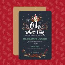 Template For Christmas Party Invitation Oh What Fun Christmas Party Invitation Card Template Vector Ill