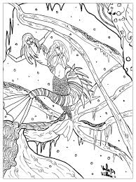 Little Mermaid Fairy Tales Adult Coloring Pages