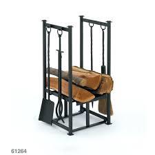 indoor wood holders fireplace for inside black log holder tools