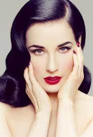 dita von teese for a 50 39 s style look focus on sharp but neat dark