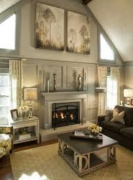 decorating walls with vaulted ceilings