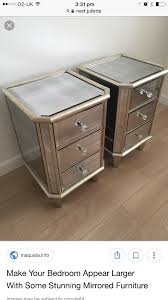 next mirrored furniture. Next Bedside Mirror Tables/ Drawers X2 Mirrored Furniture M