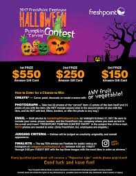 Pumpkin Carving Contest Flyers Freshpoint Employee Pumpkin Carving Contest 2017 Flyer