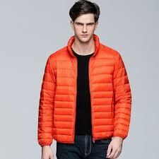 mens winter warm down coat standard collar male young canada jacket down coat long sleeve pocket