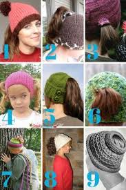 Ponytail Hat Knitting Pattern Amazing Free Knitting Pattern For Ponytail Holey Hat This Easy Ponytail