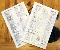 Rustic Menu Design Ideas Rustic Menu Design Dallas Menu Design Rustic Restaurant