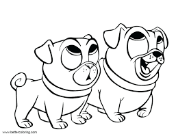 Disney Puppy Dog Pals Coloring Pages Bob Bucket Filler Page Sheet