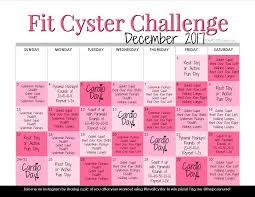 December 2017 Workout Calendar